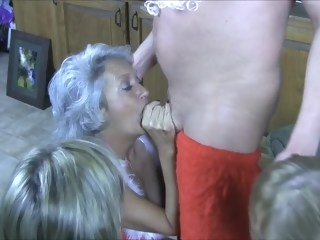 Santa brouht them what they wanted mature gangbang