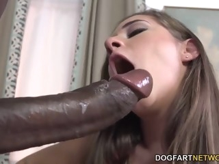 Cassidy Klein Pleases A Big Black Cock With Her Feet big cock foot fetish