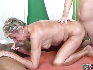 Sandra with 2 guys blowjob hardcore