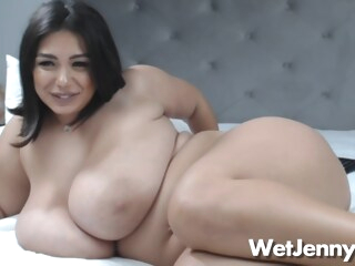 Jenny Has Huge Natural Boobs As She Plays With Her Cunt amateur bbw