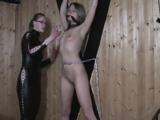 Worthless Dumb German Blonde Cunt Get Ass And Tits Slapped amateur bdsm