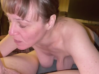 Visit College Buddy And His Mother Invited Me In And Sucked My Cock Dry! She Was One Hungry Granny! amateur brunette