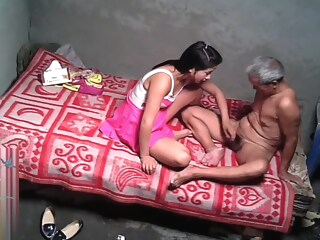 Asian Grandpa With Sexy Prostitute amateur asian