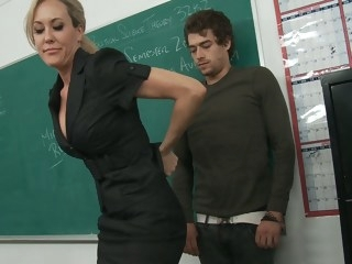 My teacher takes full advantage big tits milf