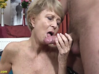 75 Year Old Mom Loves Toyboy amateur big cock